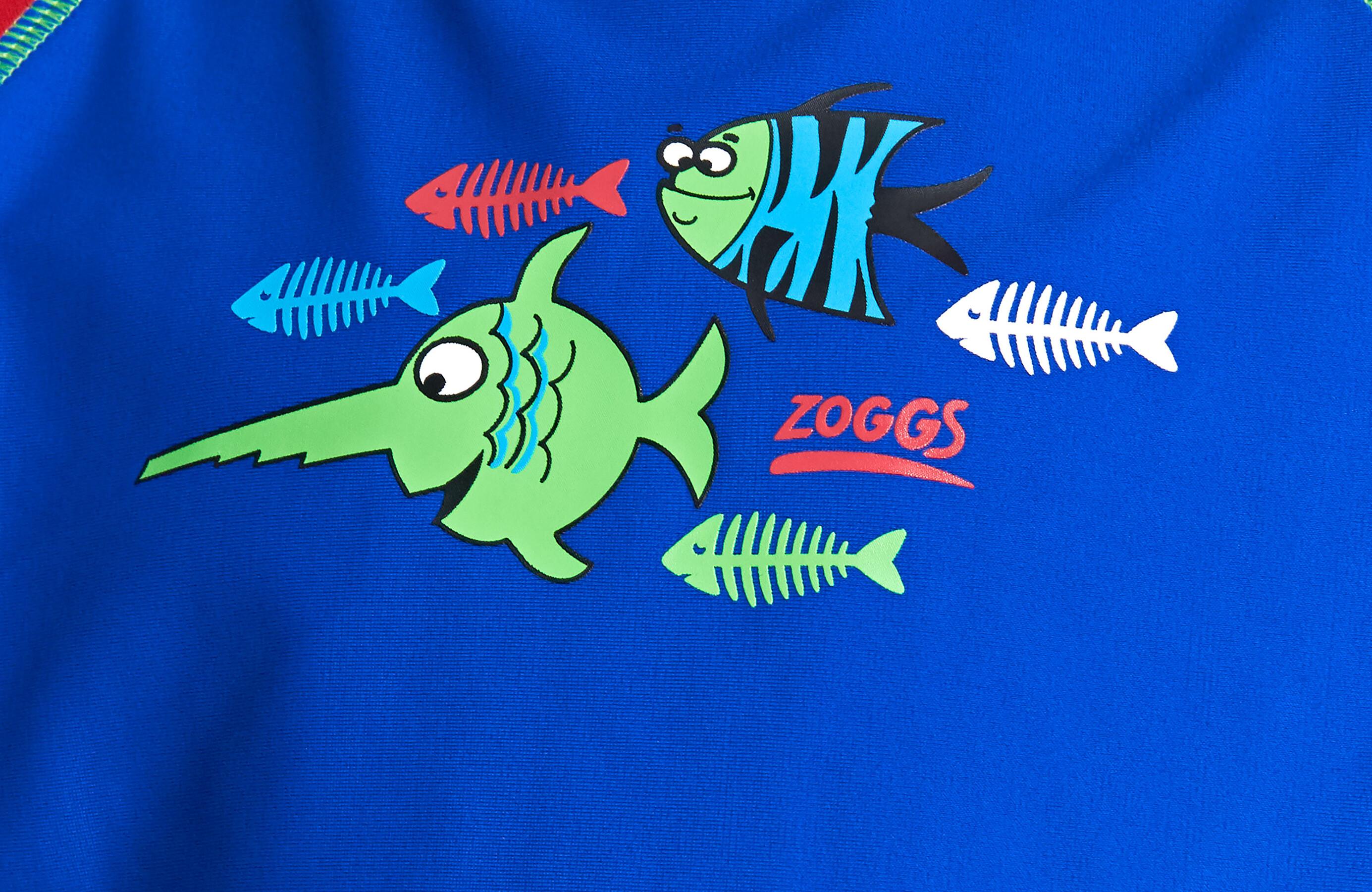 609613897 Zoggs Sea Saw Sun Badedrakt Barn rød/Blå